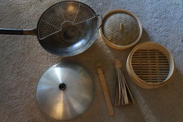 Reduced: Wok and Bamboo Steamer and Misc