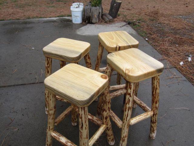 Rustic Log Stools