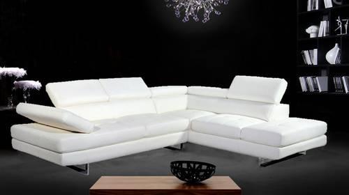 brand new ultra modern italian style white leather