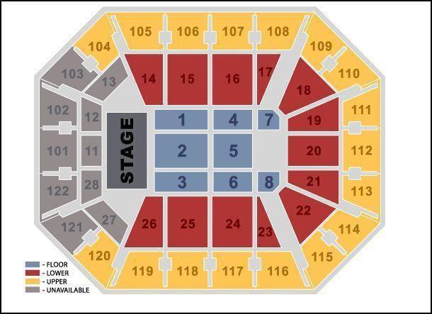 Reba McEntire Tickets 10/10/2014 Mohegan Sun Arena (Lower 16)