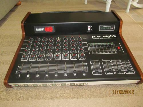 Mixer, amplifier and equalizer Sunn P.A. Eight