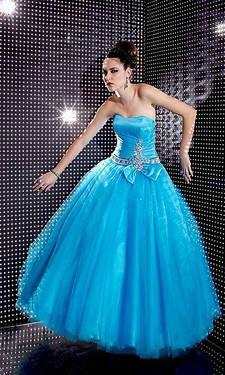 Pageant Prom Formal Dress Sz 10 Aqua Ballgown