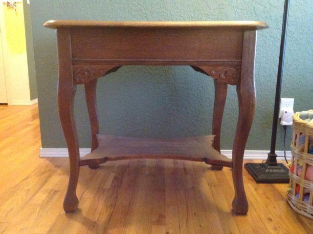 Antique oak side table high quality