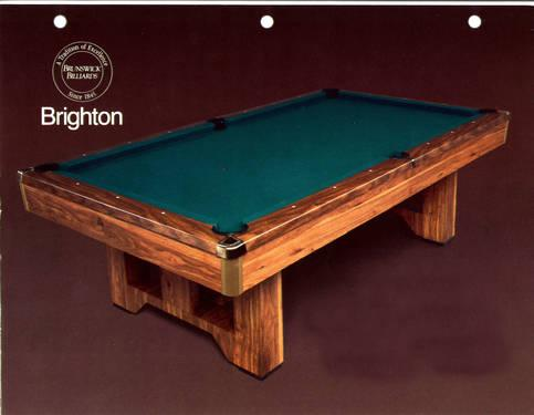 Brunswick Brighton X Foot Pool Table With Automatic Ball Returns - 4 x 8 brunswick pool table
