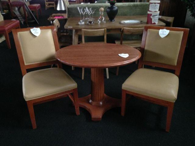 Beautiful Hardwood Hotel Tables and Chairs