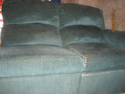 blue sectional Couch- will pay you to come and pick up