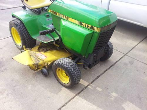 John Deere 317 Riding Tractor Mower Extras For Sale In Clinton Iowa Classified