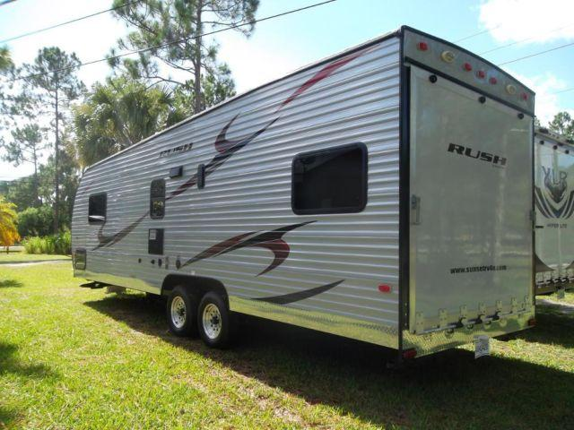 2012 30ft Toy Hauler Travel Trailer 1/2 ton towable 4300lbs.