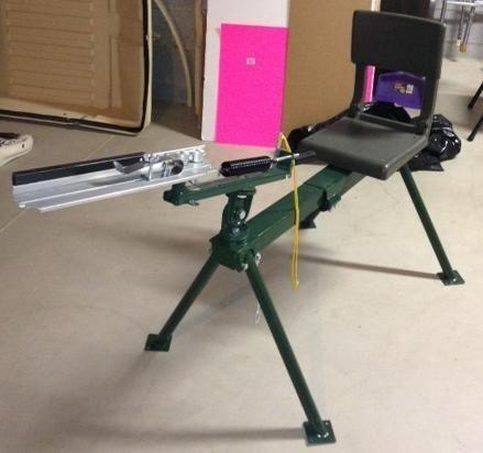Do All sit down clay pigeon trap thrower with legs and seat