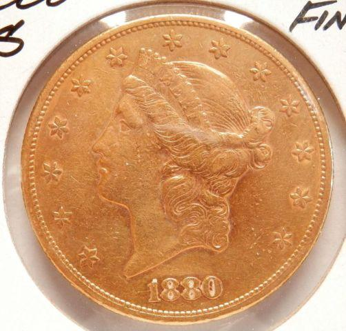 3 Gold Double Eagle $20.00 Coins very nice 1880 1900 1901