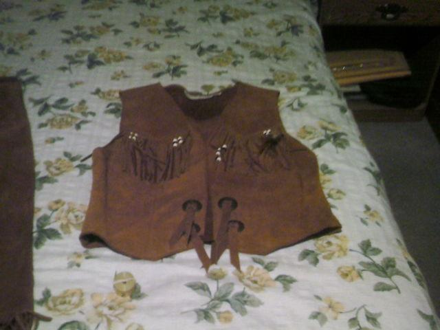 Native American Skirt And Vest (Steer Brand Leather)