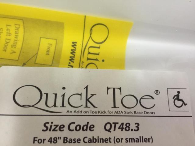 ADA Toe Kick Cabinet Bracket for Wheel Chair-13 sets for sale