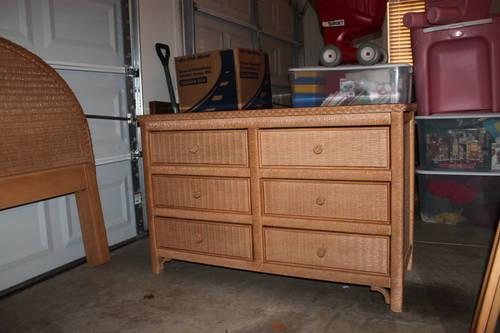 Henry Link Lexington 4 Pc Wicker Bedroom Set For Sale In