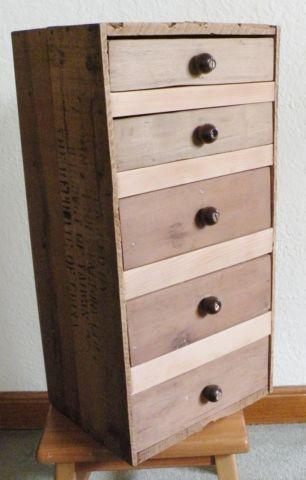 Sugar Cane Crate with Drawers