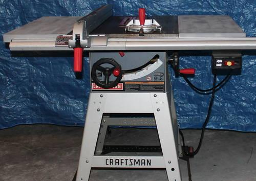 Craftsman 10 inch table saw with table and extra blades for 10 inch table saws for sale